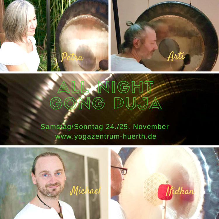All Night Gong Puja im Yogazentrum Hürth
